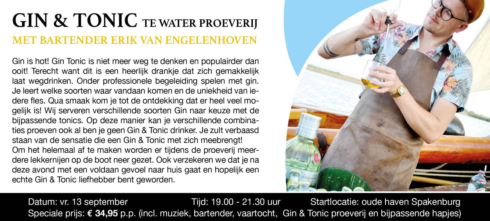 Gin & Tonic Te Water Proeverij